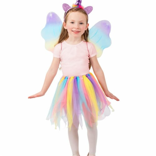 Princess Paradise 278198 Halloween Girls Unicorn Skirt Set Costume - Extra Small & Small Perspective: front