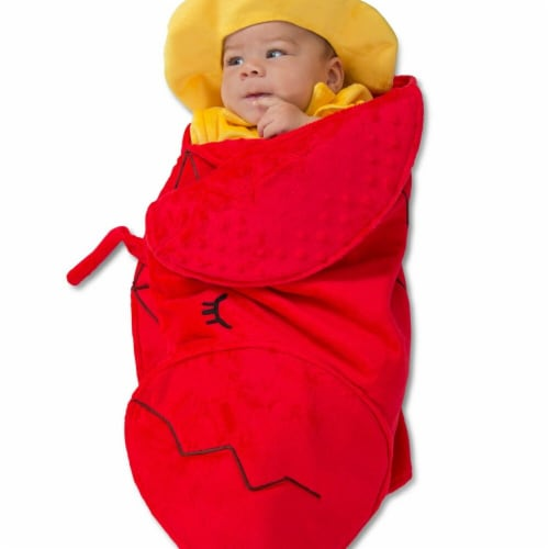 Princess Paradise 278035 Halloween Baby Swaddle Wings Lobster Fisherman Costume - 0-3 Month Perspective: front
