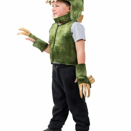 Princess Paradise 278137 Halloween Boys Green T-Rex Dino Vest Costume - Extra Small & Small Perspective: front