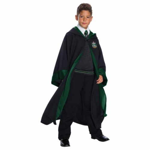 Morris CH03582CMD Childs Deluxe Slytherin Costume Set - Size 8-10 Medium Perspective: front