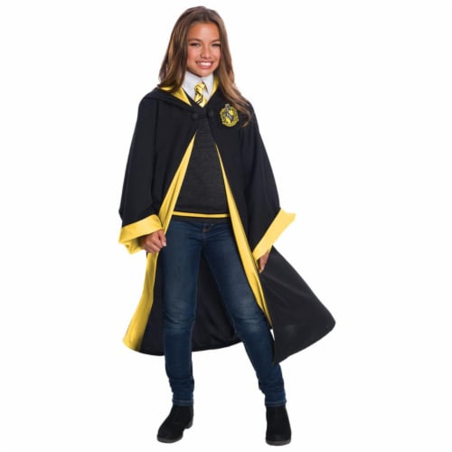 Morris CH03584CLG Childs Deluxe Hufflepuff Costume Set - Size 12-14 Large Perspective: front