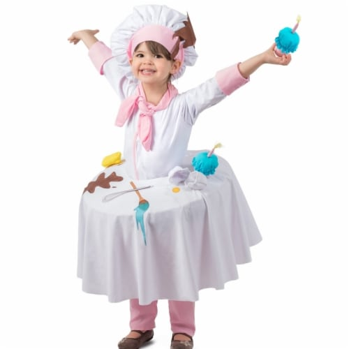 Princess 409968 Girls Messy Baker Table Top Child Costume - Medium Perspective: front