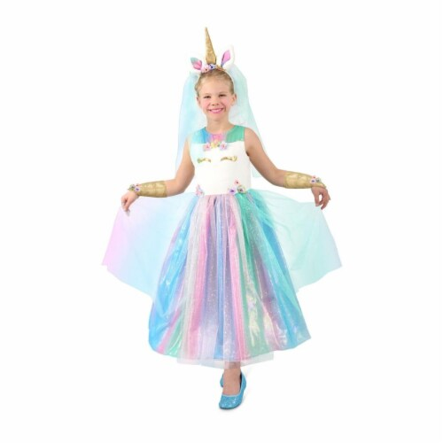 Princess 410078 Girls Lovely Lady Unicorn Child Costume - Large Perspective: front