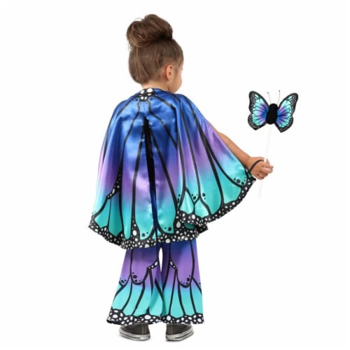 Princess 410396 Girls Child Blue Butterfly Cape Child Costume - One Size Perspective: front