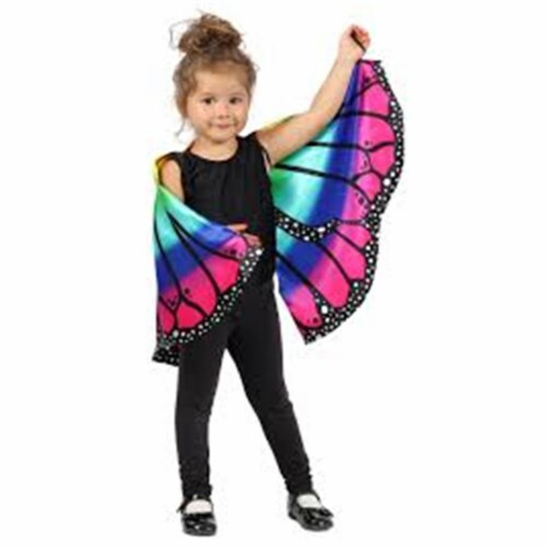 Princess Paradise 410397 Girls Child Rainbow Butterfly Cape, One Size Perspective: front