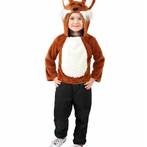 Princess 407636 Infant & Toddler Jose the Fox Hoodie Costume - Toddler Perspective: front