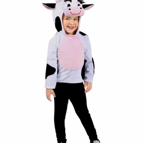Princess 407638 Girls Dylan the Cow Hoodie Child Costume - Medium & Large Perspective: front