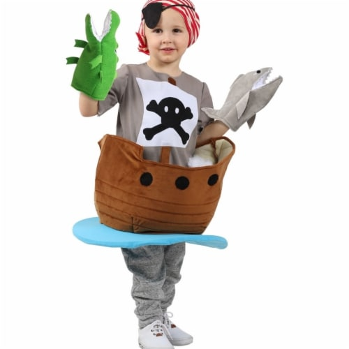 Princess 410066 Child Candy Catchers Pirate Ship Costume - Small Perspective: front