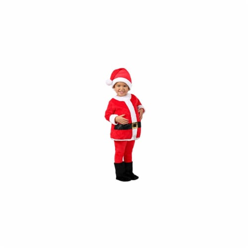 BuySeasons 402472 Baby Toddler Jolly Santa Costume, 0-6 Months Perspective: front
