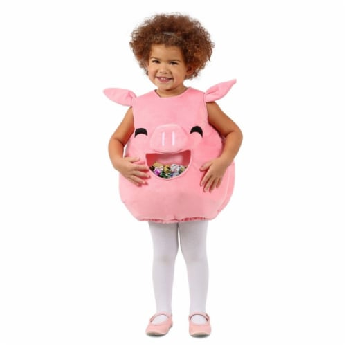 Princess 407588 Child Feed Me Piggy Costume - Extra Small & Small Perspective: front