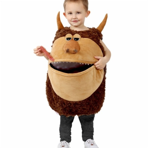Princess 410127 Girls Feed Me Wild Man Child Costume - Medium & Large Perspective: front