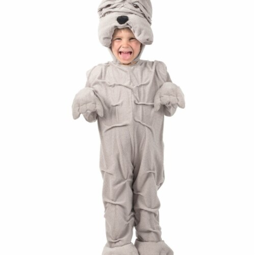Princess 410160 Girls Wrinkly Bulldog Child Costume - Medium Perspective: front