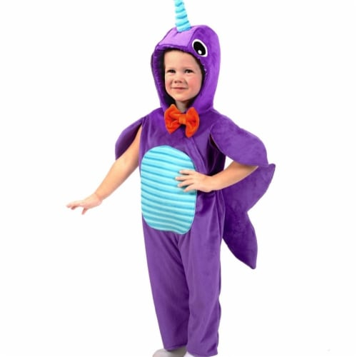 Princess 410025 Child Minky Narwhal Costume - Small Perspective: front