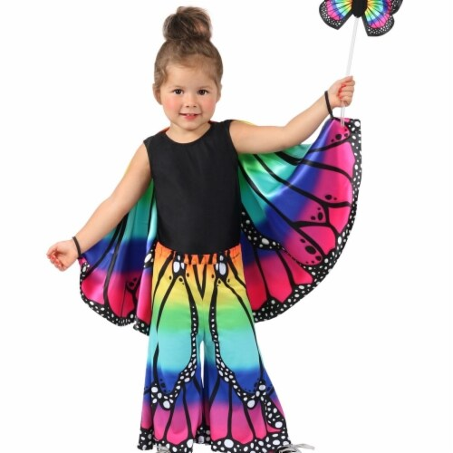 Princess 407763 Girls Child Rainbow Butterfly Pants - NS Perspective: front