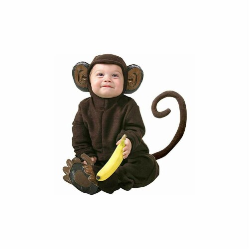 Princess Paradise 414032 Toddler Littlest Monkey Costume, 6-12 Month - NS2 Perspective: front