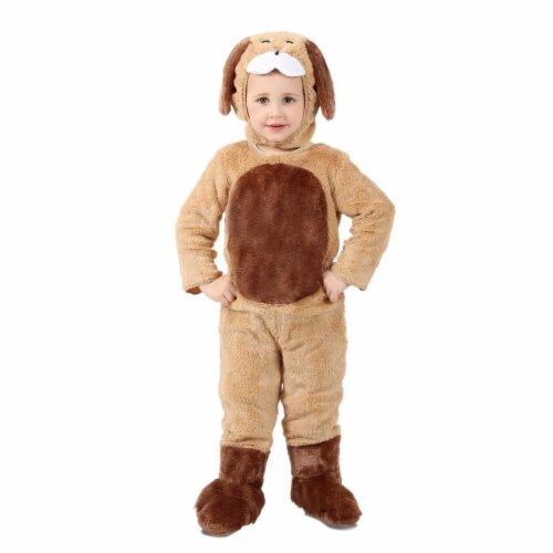 Princess Paradise 413948 Child Ben the Brown Puppy Costume for Girls, Extra Small Perspective: front