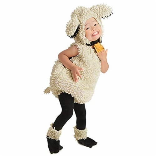 Princess Paradise 413963 Toddler Loveable Lamb Costume for Girls, 6-12 Month - NS2 Perspective: front