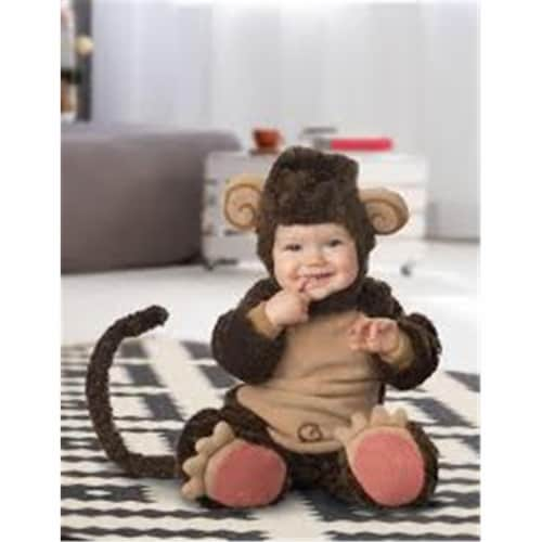 Princess Paradise 414056 Infant Sweet Little Monkey Costume, 0-6 Month Perspective: front