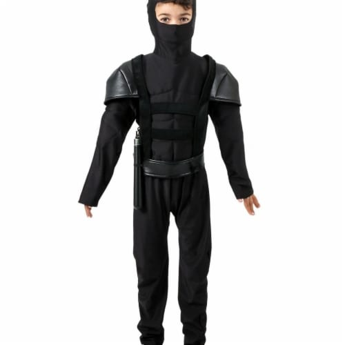 Princess Paradise 414012 Child Midnight Master Ninja Costume for Boys, Medium Perspective: front