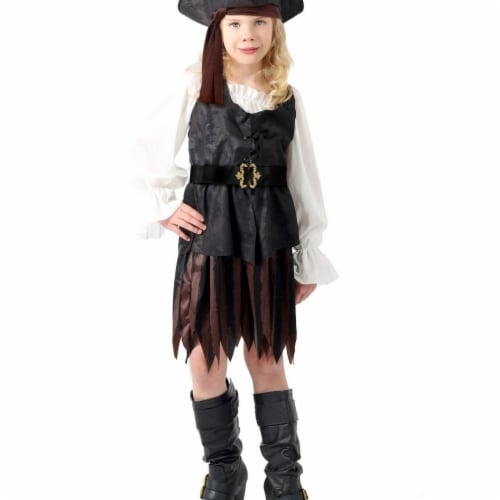 Princess Paradise 413928 Child Anne the Pirate Maiden Costume for Girls- Extra Large & Size 1 Perspective: front