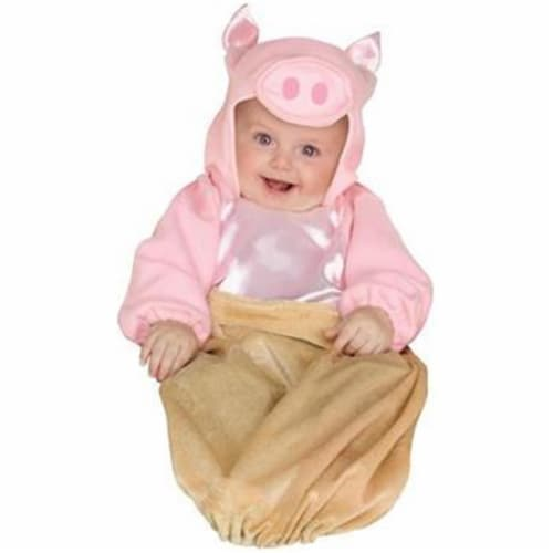 Princess Paradise 413942 Infant Pig in a Blanket Costume, 0-9 Month - Infant Perspective: front