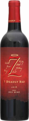 Seven Deadly Red Blend Wine Perspective: front