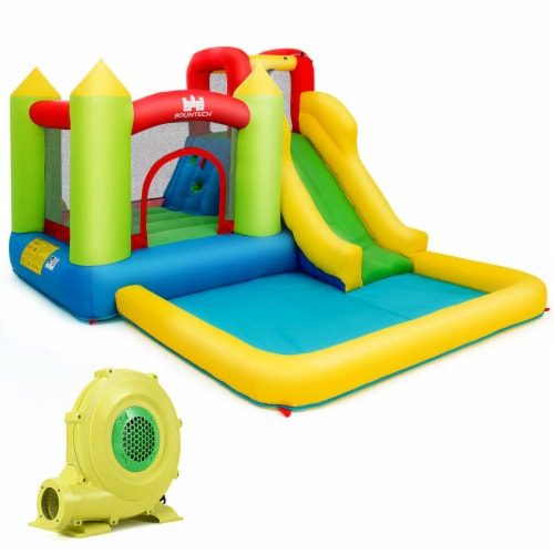 Gymax Outdoor Inflatable Bounce House Water Slide Climb Bouncer Pool Perspective: front