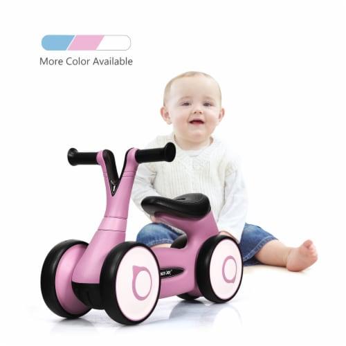 Honey Joy Baby Balance Bike Bicycle Mini Children Walker Toddler Toys Rides No-Pedal BluePink Perspective: front