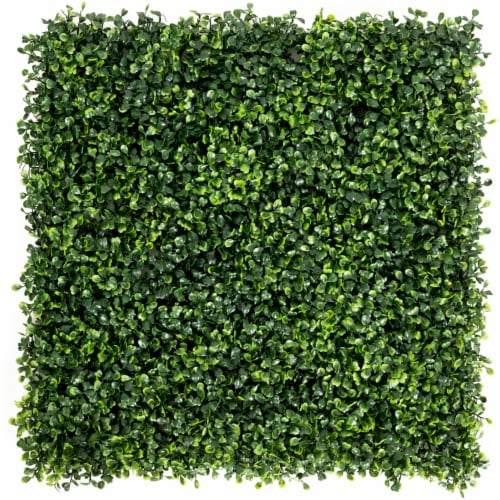 Costway 12 PCS 20''x20'' Artificial Boxwood Plant Wall Panel Hedge Privacy Fence Perspective: front