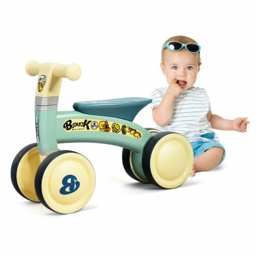 Gymax 4 Wheels Kids Balance Bike No Pedal Baby Walker Toys Ride Toddler Bicycle Perspective: front