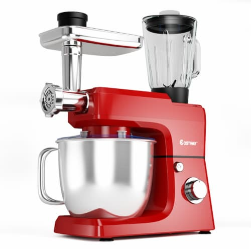 Costway 3 in 1 Multi-functional 800W Stand Mixer Meat Grinder Blender Sausage Stuffer Perspective: front