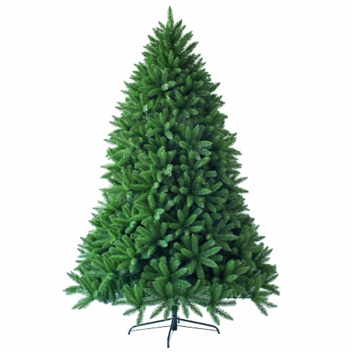 Costway 7.5ft Artificial Christmas Fir Tree 1968 Branch Tips Perspective: front