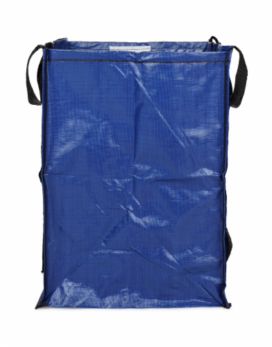 Halsted DuraSack Reusable Heavy Duty Home and Yard Bag - Blue Perspective: front