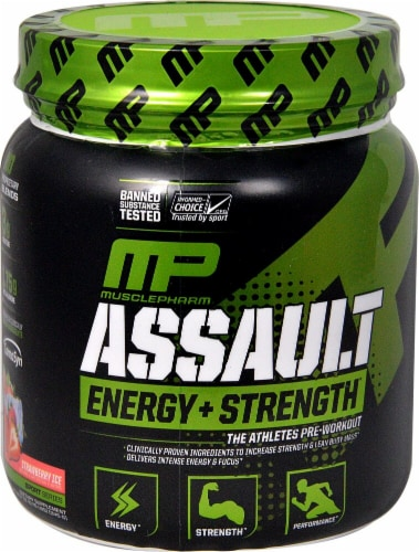 MusclePharm  Assault Sport™   Strawberry Ice Perspective: front