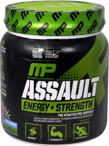 MusclePharm Assault Blue Sport Perspective: front
