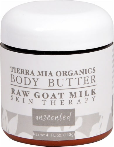 Tierra Mia Organics  Raw Goat Milk Body Butter Unscented Perspective: front