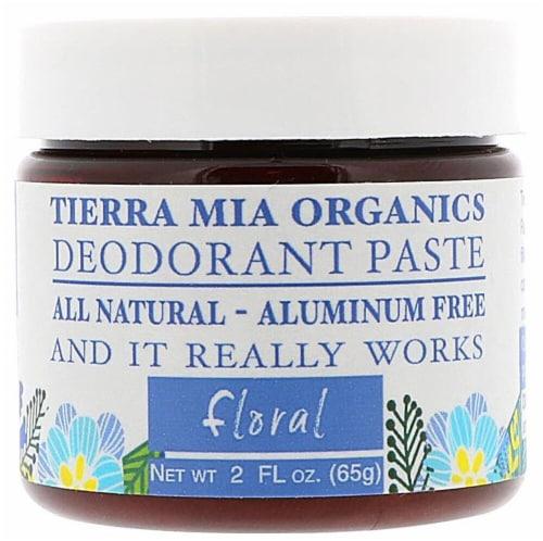 Tierra Mia Organics  Deodorant Paste Floral Perspective: front