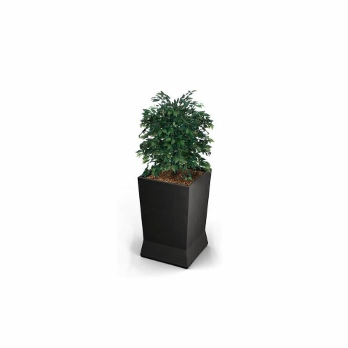 Commercial Zone 724466 22 x 22 x 37 in. Large Planter, Gunmetal Satin Perspective: front