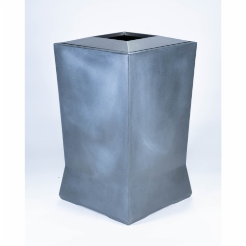 Commercial Zone 724666 39 gal Large Waste Container with Stainless Steel Lid, Gunmetal Satin Perspective: front