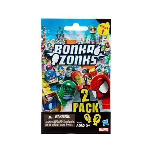 Marvel Universe Bonkazonks Series 1 Marvel Blind Bag ( 2 Random Figure spinners ) Tops 2-Pack Perspective: front