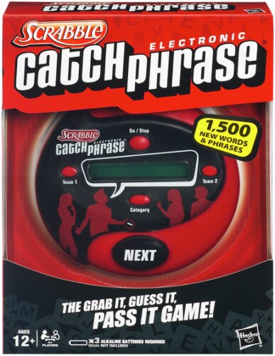 Hasbro Scrabble Electronic Catch Phrase Game Perspective: front