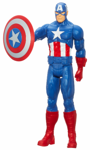 Hasbro Marvel Avengers Assemble Titan Hero Series Captain America Action Figure Perspective: front