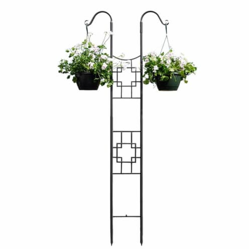 Square-on-Squares Double Pole Trellis Perspective: front