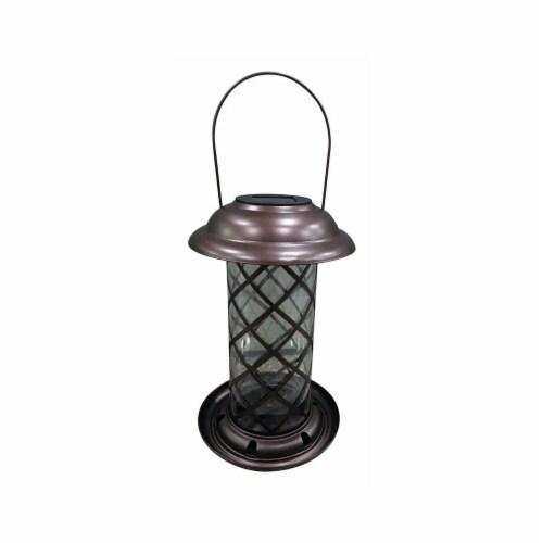 Wild Bird Metal Solar Lantern Feeder Perspective: front