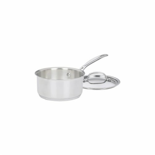 1.5 qt. Stainless Steel Saucepan with Lid Perspective: front