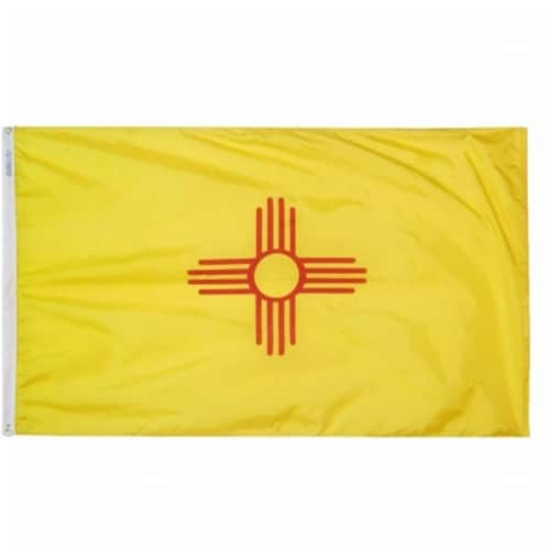 3 ft. x 5 ft. Nyl-Glo New Mexico Flag Perspective: front