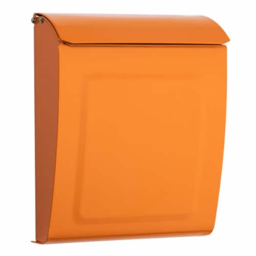 Aspen Mailbox, Orange Perspective: front