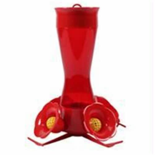 Woodstream Hummingbird Plastic Pinch Waist Hummingbird Feeder- Red 8 Ounce Perspective: front