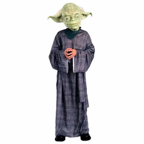Rubies Costume Co 10601 Star Wars Yoda Deluxe Child Costume Size Medium- Boys 8-10 Perspective: front