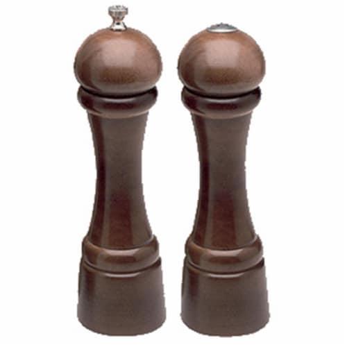 8 inch- 20cm Windsor - Ebony Pepper Mill/Salt Shaker Set Perspective: front